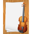 Violin banner vector