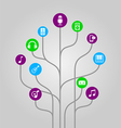 Icon tree - music media and audio vector