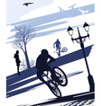 Extreme cyclist doing tricks vector