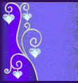 Background with ornament with precious stones and vector