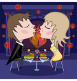 Romantic date on valentines day vector