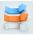 Abstract 3d arrows with place for text vector