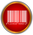 Bar code button vector