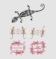 Lizard ornament decoration vector