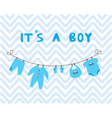 It is a boy vector