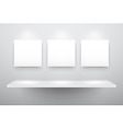 3d isolated empty shelf vector