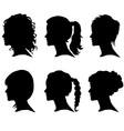 Woman silhouette with hair vector