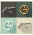 Military flat design sign vector