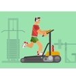 Athlete running on a treadmill vector