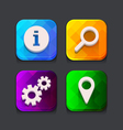 Search web icons collection vector