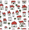 City sketch seamless pattern for your design vector