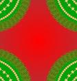 Frame fir red vector