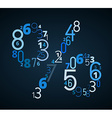 Pecent sign font from numbers vector