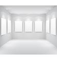 Gallery interio vector
