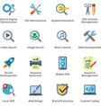 Seo and internet marketing flat icons - set 1 vector