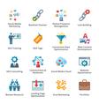 Seo and internet marketing flat icons - set 2 vector
