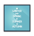 Seasons poster with media icons vector