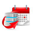 Database sign and calendar vector