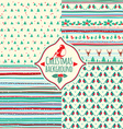 Set of four christmas patterns vector