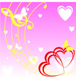 Background with heart and music vector