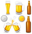 Set of beer vector