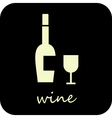Wine and wine glass vector