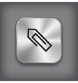 Paper clip icon - metal app button vector