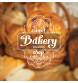 Bakery label vector