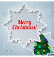 Merry christmas and new year greeting card - paper vector