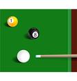 Billiards sport game background vector
