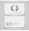 Business card template laurel concept logo vector