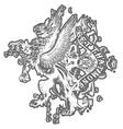 Griffin eagle crest emblem vector