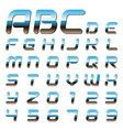 Metallic font alphabet vector