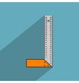 Flat angle ruler vector