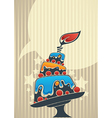 Cake card for your text vector