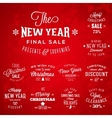 Christmas and new year vintage typography labels vector