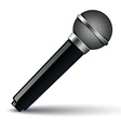 Microphone isolated on white background vector