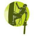 Tree surgeon chainsaw vector