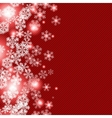 Christmas winter snowflakes background vector