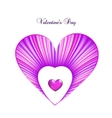 Valentine day card template with heart vector