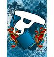 Wakeboarder summer background vector