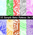 10 retro patterns textures set 5 vector
