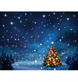 Christmas tree winter vector