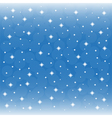 Background blue sky with snowflakes vector