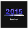 New year 2015 loading background vector
