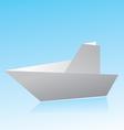 Origami boat vector