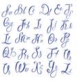 Abc - english alphabet - handwritten calligraphic vector