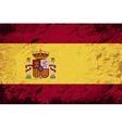 Spanish flag grunge background vector
