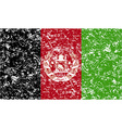 Flag of afghanistan with old texture vector