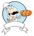 Male pizzeria chef vector